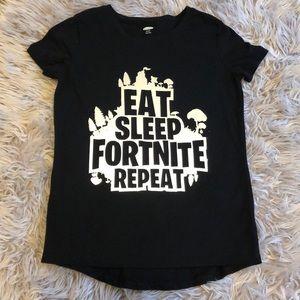 Kids Fortnite Graphic T-shirt - Black